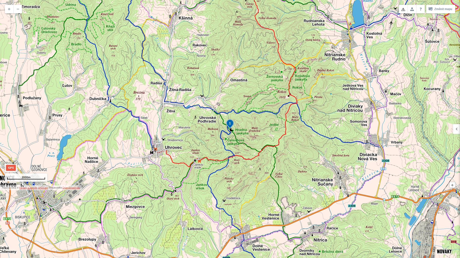 10_Hrad_Uhrovec_mapa